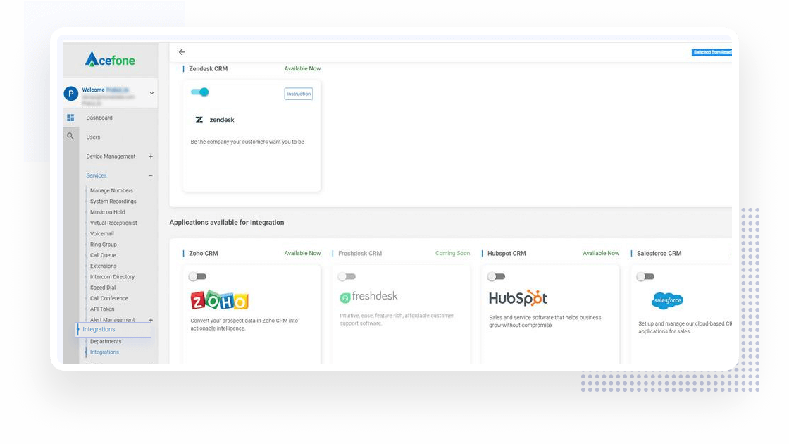 Zendesk Integration Dashboard